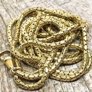 """Antique Georgian (circa 1800s) Pinchbeck chain 50"""""""